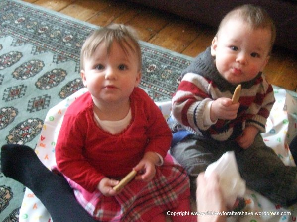Babies eating biscuits, weaning, biscuits, twins, twin babies, cute